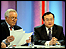 Question Time host David Dimbleby (left), with Chinese foreign ministry spokesman Liu Jianchao