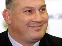 Mike Ruddock at his appointment as Wales rugby coach