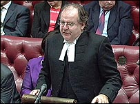 Lord Falconer in the House of Lords