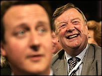 David Cameron (foreground) is the bookies' favourite while Ken Clarke is tipped to fall at the first hurdle