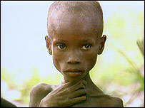 1991 famine victim in Mozambique