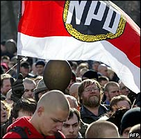 NPD march in Dresden, 13 Feb 05