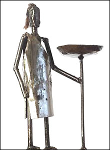 Sculpture of Maasai warrior