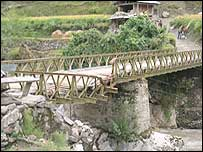 Bridge damaged in Tangdar