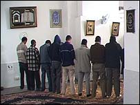 Muslims at prayer in Madrid
