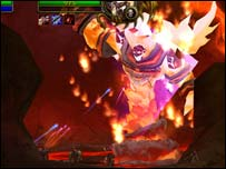 Ragnaros in his element, Low Red Moon
