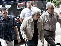 Peter Falconio's family arrive at court