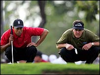 Tiger Woods and Phil Mickelson at Doral