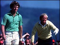 Tom Watson and Jack Nicklaus at Turnberry in 1977