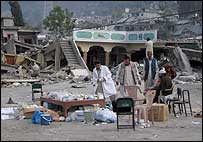 Makeshift clinic in Balakot