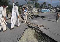 Main road into Balakot