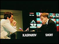 Garry Kasparov and Nigel Short