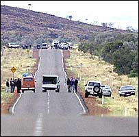 The scene of the alleged murder and attack