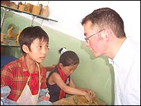 Teacher Aidan O'Kelly visits a Chinese school