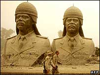 Remaining statues of Saddam Hussein in Baghdad