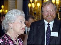 Queen Elizabeth II and Bill Bryson