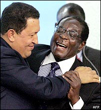 Hugo Chavez and Robert Mugabe