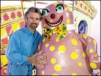 Noel Edmonds and Mr Blobby in Noel's House Party