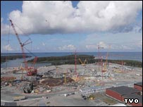 Construction site of Finland's Olkiluoto 3 reactor