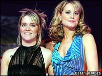 Fame Academy's Edith Bowman and Kim Medcalf