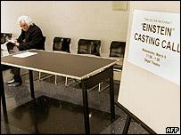Latif Rashidzada at the Einstein look-alike auditions in New York