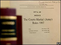 Military court documents