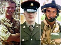 Three soldiers who died in Iraq