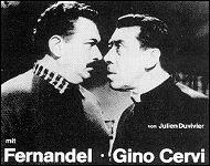 Fernandel y Gino Cervi en los papeles de Don Camilo y Peppone, respectivamente.