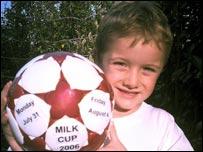 Milk Cup fan Stuart Cameron