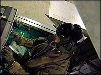 RAF pilot in cockpit