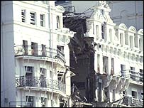 Grand Hotel, Brighton, after the bombing in 1984