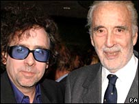Tim Burton and Christopher Lee