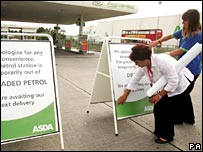 Petrol sold out signs after fuel protests