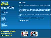 Screen grab of the ITV local broadband TV service