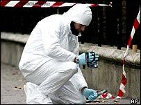 Italian forensic expert at the January crime scene