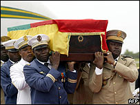 Gnassingbe Eyadema's coffin party