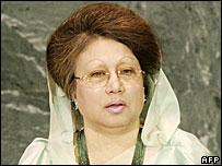 Bangladesh's prime minister Begum Khaleda Zia