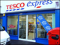 Tesco Express on Gloucester Road