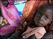 Displaced child from Darfur, Sudan (Archive photo, 2004)