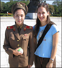 Carol Rueckert with a tour guide (image courtesy of Carol Rueckert)