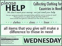 Arthur Clothing Company leaflet