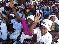 Opposition rally in Chimanimani, Zimbabwe