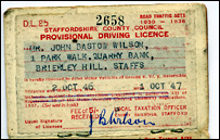 Provisional licence from 1947