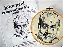John Peel cross-stitch kit from eBay