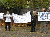 Campaigners against animal cruelty
