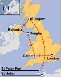 Baton's route