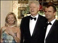 Deborah and Mark Langford with President Bill Clinton