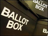 Ballot boxes, BBC