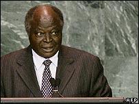President Mwai Kibaki of Kenya