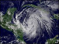 El hurac�n Wilma en una imagen de sat�lite